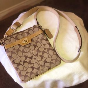 Coach Tan/Beige Coach crossbody